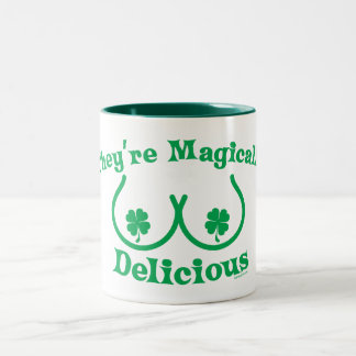 St. Patrick's Day | They're Magically Delicious Two-Tone Coffee Mug