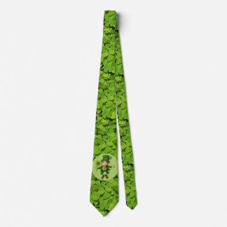 St Patrick's Day Tie Leprechaun Shamrock Green