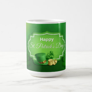 St. Patrick's Day Top Hat & Coins Basic White Mug