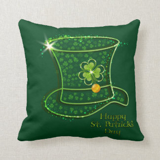 St. Patrick's Day Top Hat & Coins Cushion