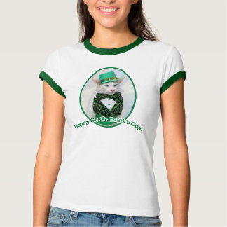 St Patricks Day Tshirt by Skeezix McCat