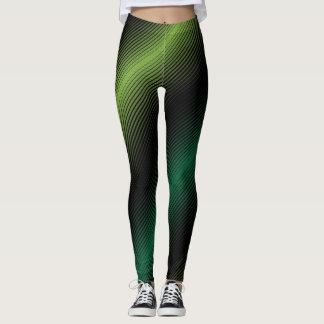 St Patricks Day Variable Green Lines Leggings