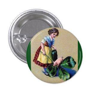 St Patricks Day Vintage Button
