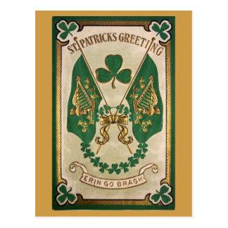 St. Patricks Day Vintage Postcard