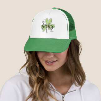 St. Patrick's Day. Watercolor. The Lucky Day. Trucker Hat