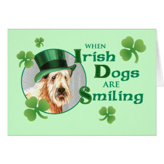 St. Patrick's Day Wheaten Terrier Card