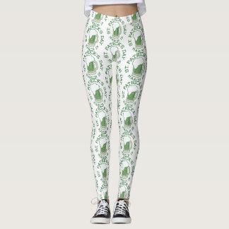 st patricks distressed green beer leggings