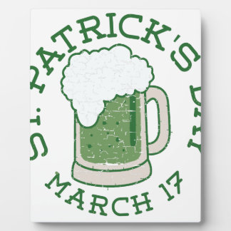 st patricks distressed green beer plaque