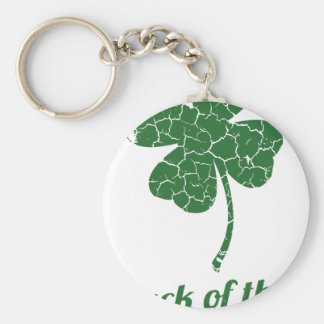 st patricks distressed lucky clover key ring