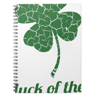 st patricks distressed lucky clover notebook