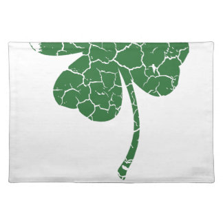 st patricks distressed lucky clover placemat