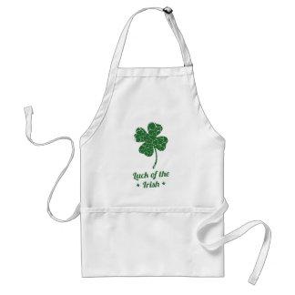 st patricks distressed lucky clover standard apron