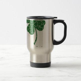 st patricks distressed lucky clover travel mug