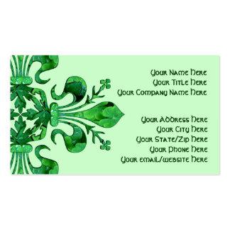 St. Patrick's Fleur de lis Business Card Templates