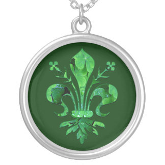 St. Patrick's Fleur de lis Necklaces