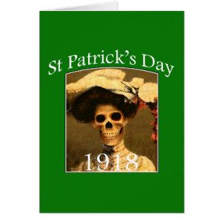 St Patrick's Funny Gothic Skeleton Day card