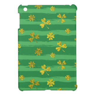 st patricks golden shamrocks iPad mini case