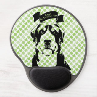 St Patricks Greater Swiss Mountain Dog Silhouette Gel Mouse Pads