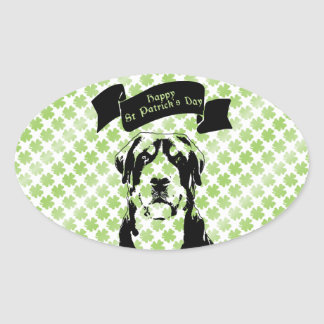 St Patricks Greater Swiss Mountain Dog Silhouette Sticker
