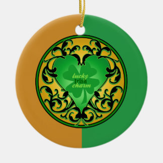 St. Patrick's Heart Christmas Ornaments