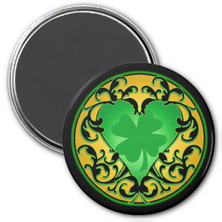 St. Patrick's Heart Lucky Charm 7.5 Cm Round Magnet