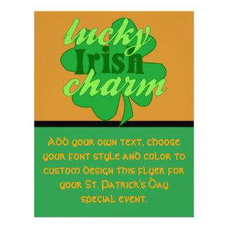 St. Patrick's Heart Lucky Charm Flyer Design