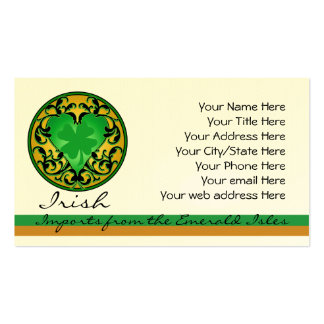 St. Patrick's Heart Lucky Charm Pack Of Standard Business Cards
