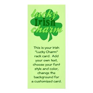 St. Patrick's Heart Lucky Charm Rack Card Design