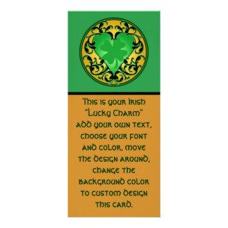 St. Patrick's Heart Lucky Charm Customized Rack Card