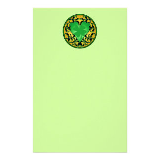 St. Patrick's Heart Lucky Charm Stationery Paper