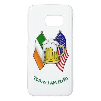 ST PATRICKS IRISH AMERICAN FLAG AND BEER MUG COVER