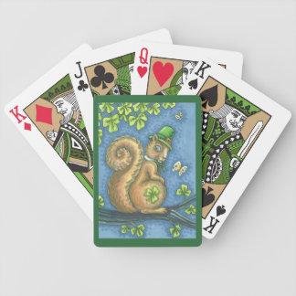 St. Patrick's IRISH SQUIRREL BICYCLE PLAYING CARDS