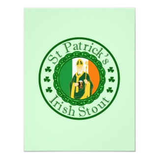 St. Patrick's Irish Stout 11 Cm X 14 Cm Invitation Card