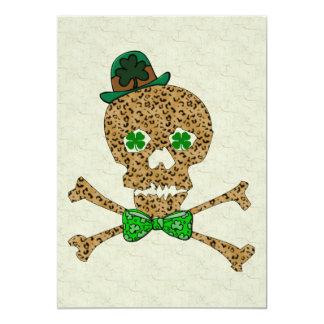 St. Patrick's Leopard Skull 13 Cm X 18 Cm Invitation Card