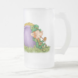 St. Patrick's Leprechaun and Blessing Beer Mug - S