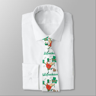 St. Patrick's Leprechaun Party Necktie