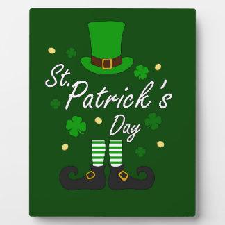 St Patricks Leprechaun Plaque