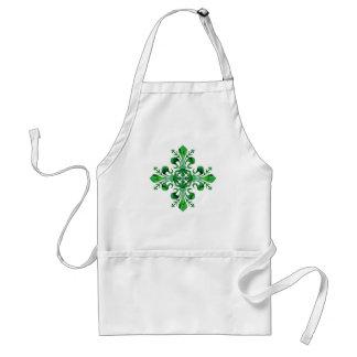 St. Patrick's Lucky Fleur de lis (2) Adult Apron