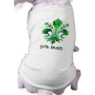 St. Patrick's Lucky Fleur de lis Sleeveless Dog Shirt