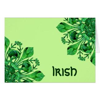 St. Patrick's Lucky Fleur de lis Greeting Card