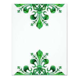 """St. Patrick's Lucky Fleur de lis 4.25"""" X 5.5"""" Invitation Card"""