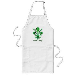 St. Patrick's Lucky Fleur de lis Long Apron