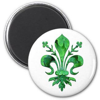 St. Patrick's Lucky Fleur de lis Magnet