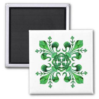 St. Patrick's Lucky Fleur de lis Magnet 2