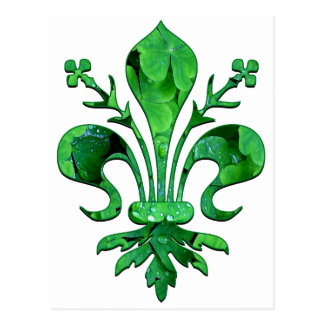 St. Patrick's Lucky Fleur de lis Post Card