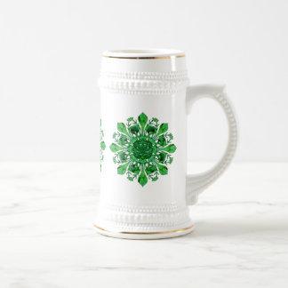 St. Patrick's Lucky Fleur de lis Stein Mug