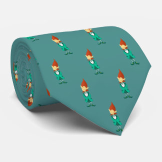 St Patrick's Lucky Leprechaun (teal) Tie