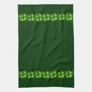 St. Patrick's Lucky Shamrocks kitchen towel