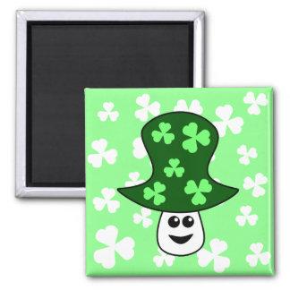 St. Patrick's Mushroom Magnet