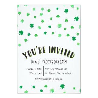 St. Patrick's (Paddy's) Day Initation Card